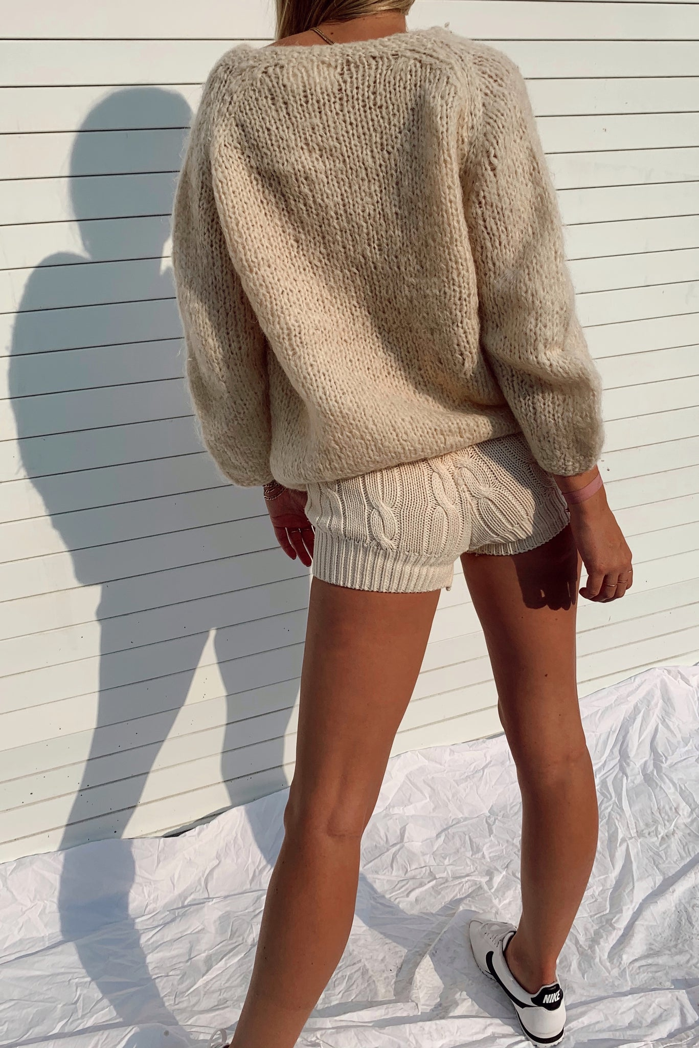 Hand Knit in Italy Cardigan (S)