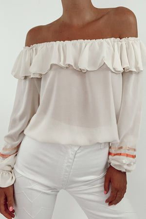 Sheer Off The Shoulder Top (S)