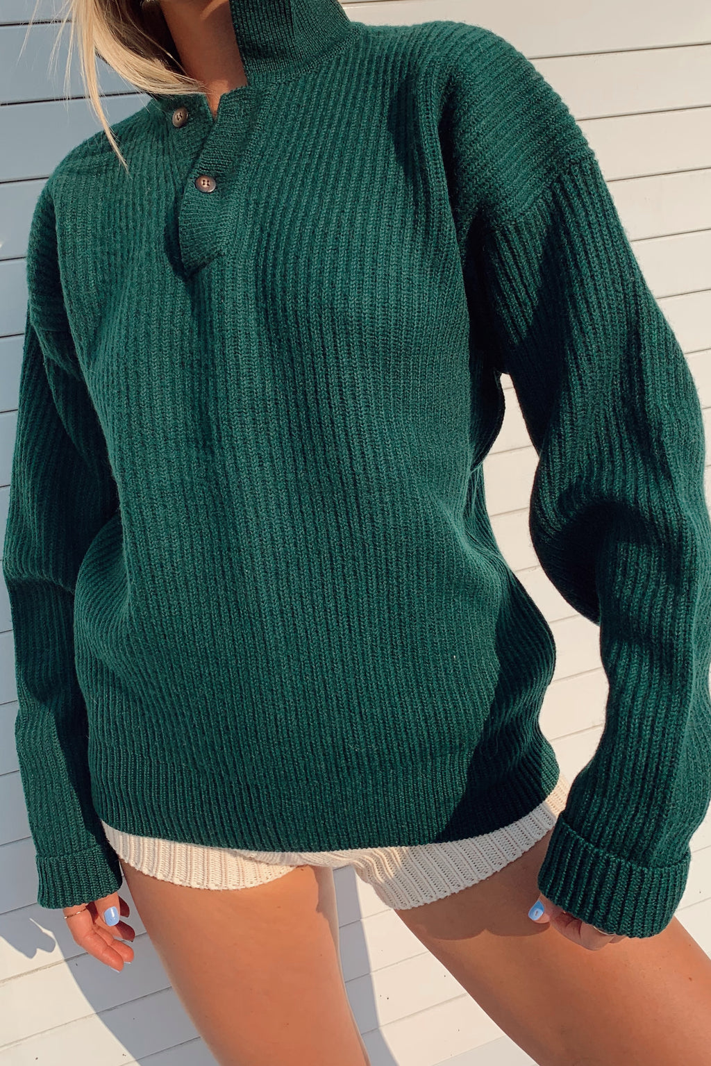 Wool Henley Sweater (S-M)