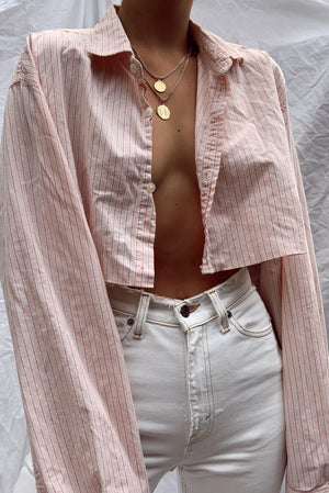 Reworked Ralph Lauren Cropped Button Up (S-L)