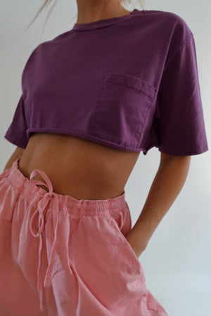 Cropped Purple T (S-L)