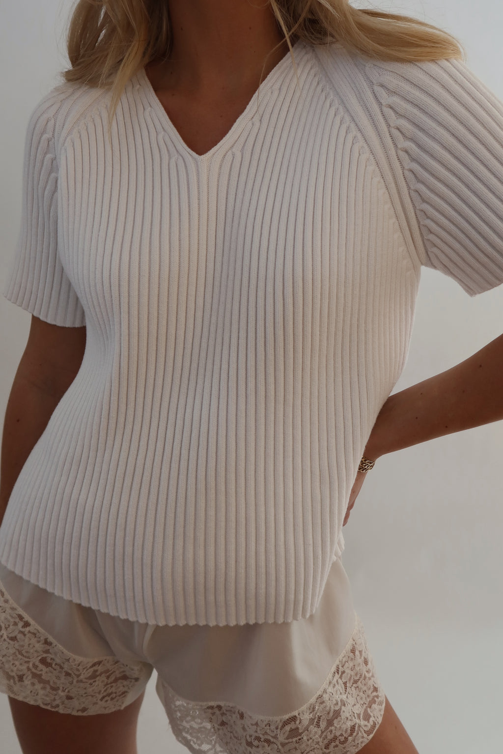 Cotton Ribbed Top (S-M)