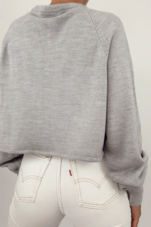Dior Cropped Gray Sweater (S-XL)