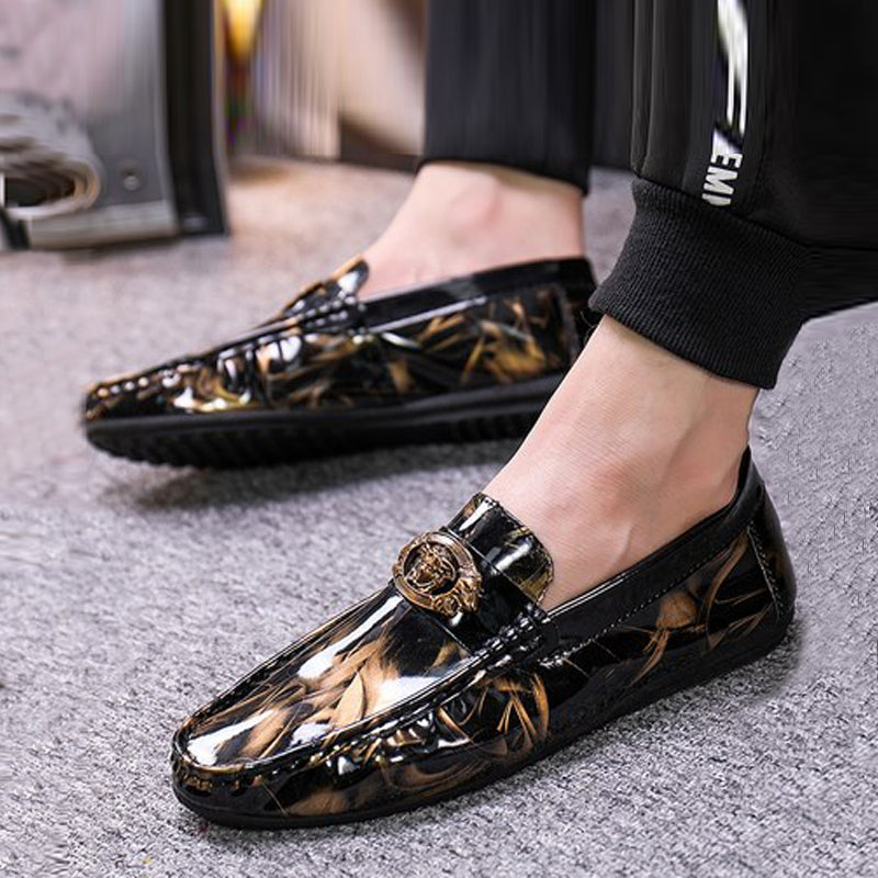 Leather Slip-On Men's Dress Shoes