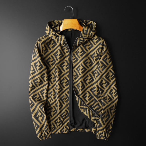 Fashion Brand Letter Printed Long Seleeve Casual Jacket