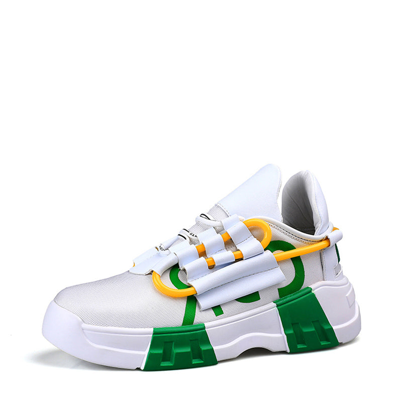 Canvas Cloth Lace Up Platform Men's Sneakers