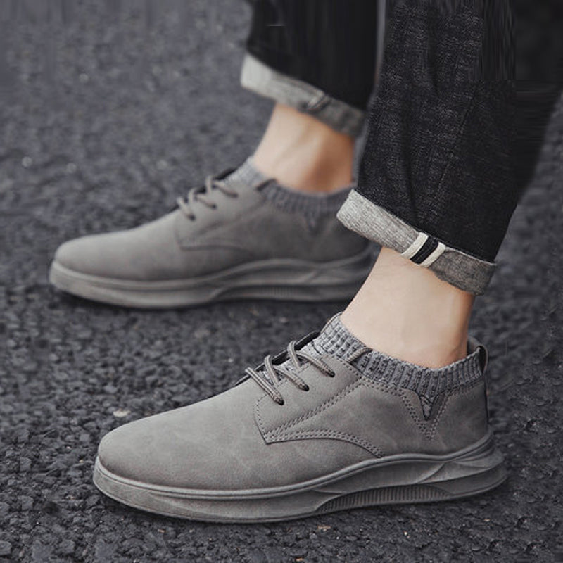 Leather Lace Up Water-proof Men's Sneakers