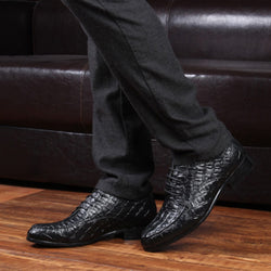 Cowhide Pointed Toe Men's Dress Shoes