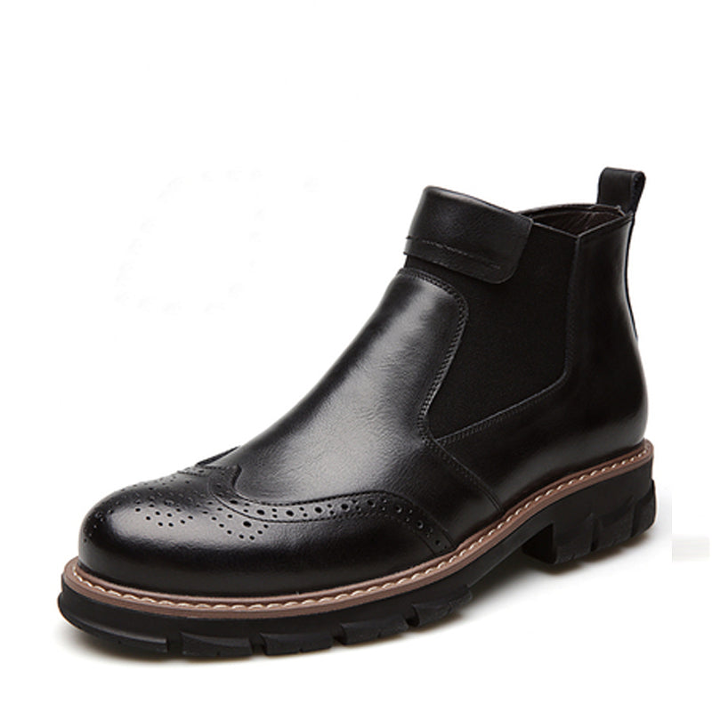 Cowhide Slip On Men's Boots