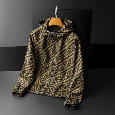2020 Fashion Letter Printed Casual Jacket With Zipper
