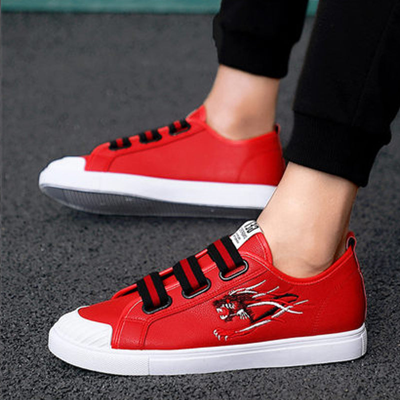 Canvas Cloth Elastic Band Men's Sneakers