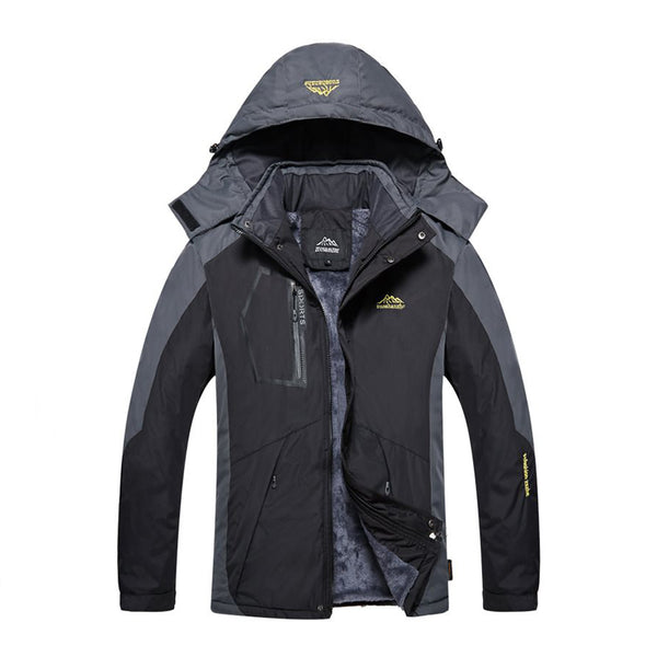 Fashion Stitching-colored Relaxed Down Jacket