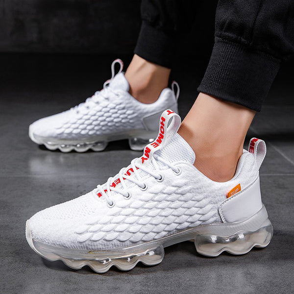 Mesh Cloth Lace Up Air Max Men's Sneakers