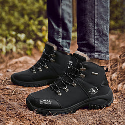 Leather Lace Up Water-proof Men's Boots