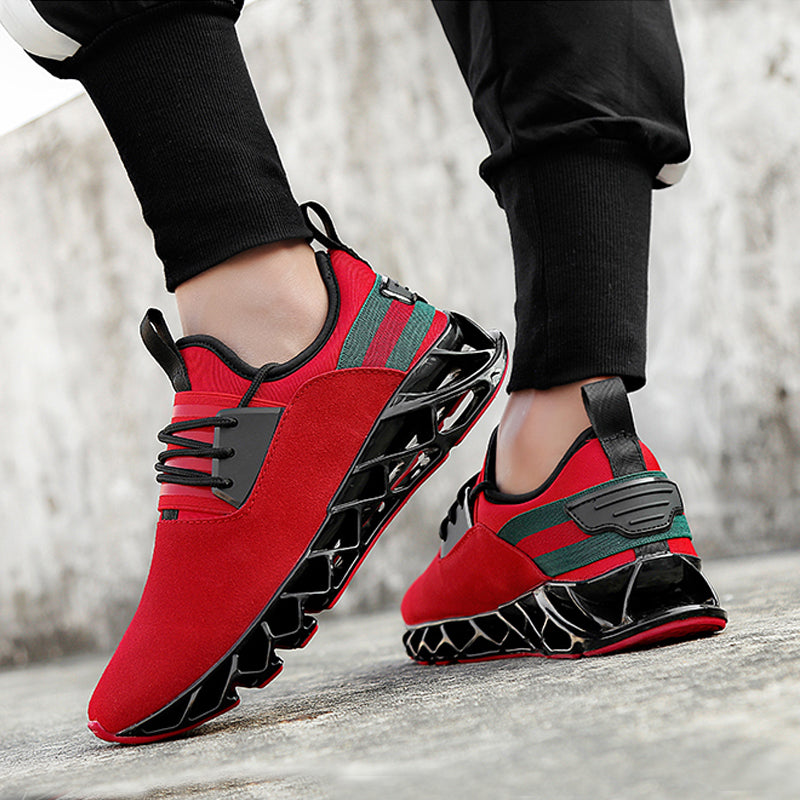 Leather Lace Up Platforms Men's Sneakers
