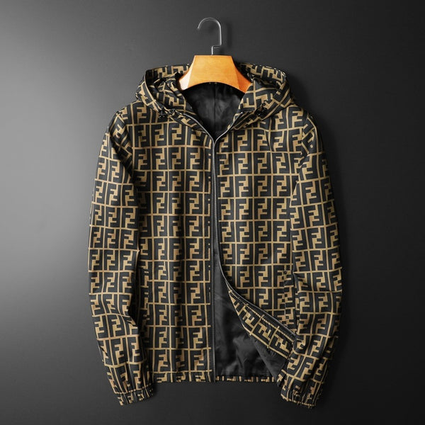 New In Letter Printed Long Seleeve Casual Jacket