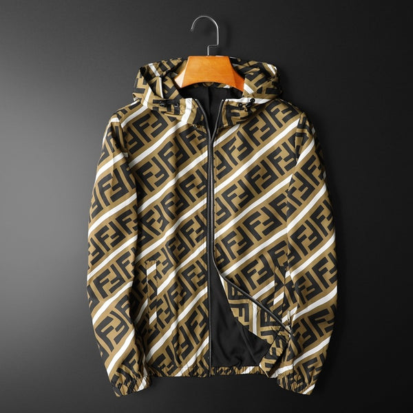 2020 New Fashion Casual Letter Printed  Long Seleeve Jacket