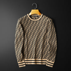 Casual Style Letter Printed Long Seleeve Men's Sweater