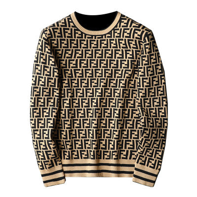 Fashion Casual Letter Printed Long Seleeve Sweater