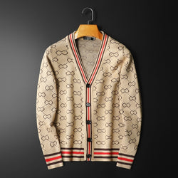 Fashion Printed Long Seleeve Casual Sweater