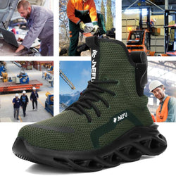 Men High Steel Toe Work Safety Shoes