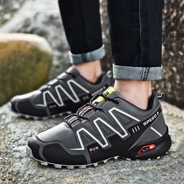 Leather Waterproof Lace Up Hiking Men's Sneakers