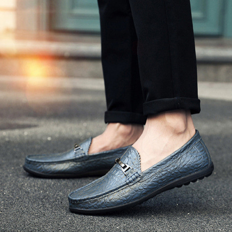 Cowhide Slip On Men's Loafers