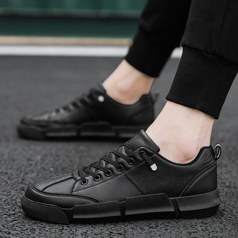 Leather Lace Up Non-slip Men's Sneakers