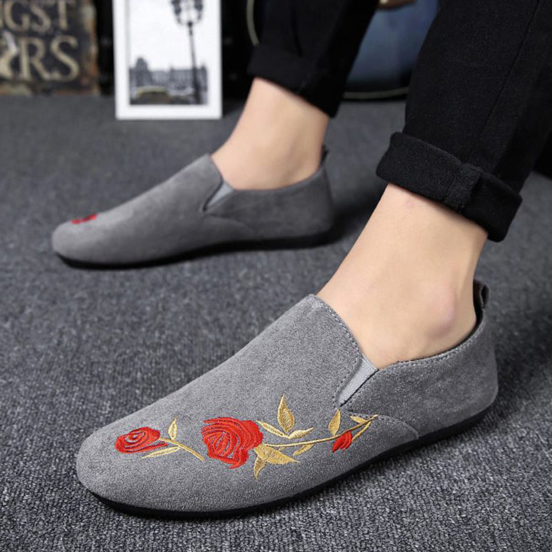 Leather Suede Slip-On Men's Loafers