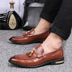 Microfiber Slip-On Men's Dress Shoes