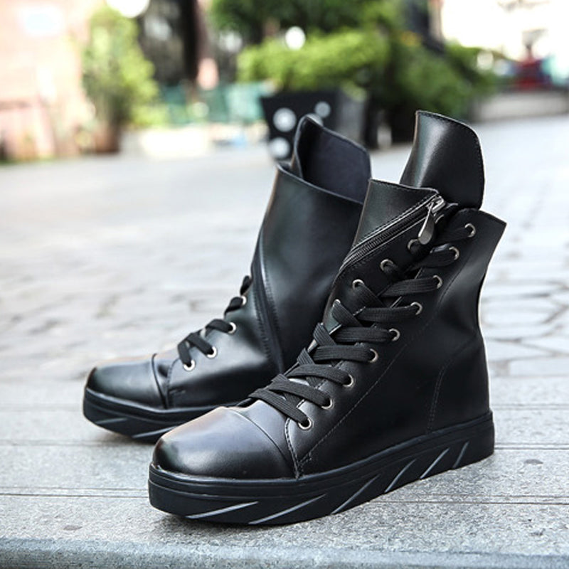 Leather Lace Up Men's Boots
