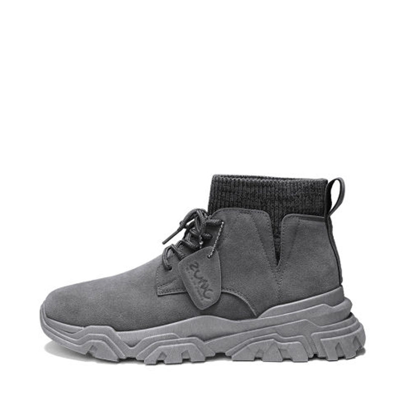 Suede Lace Up Men's Boots