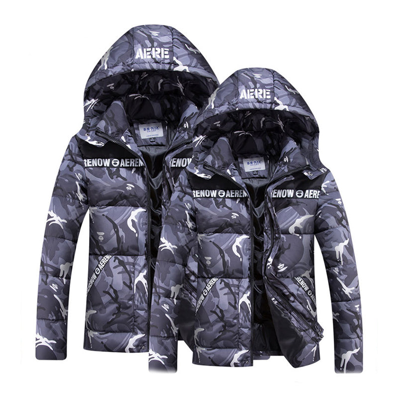 Fashion Hooded Casual Down Jacket