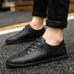 Leather Lace Up Waterproof Men's Dress Shoes