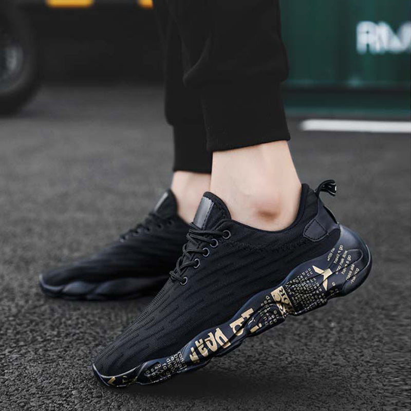 Mesh Lace Up Men's Sneakers