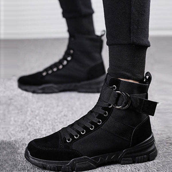 Canvas Lace Up Men's Boots