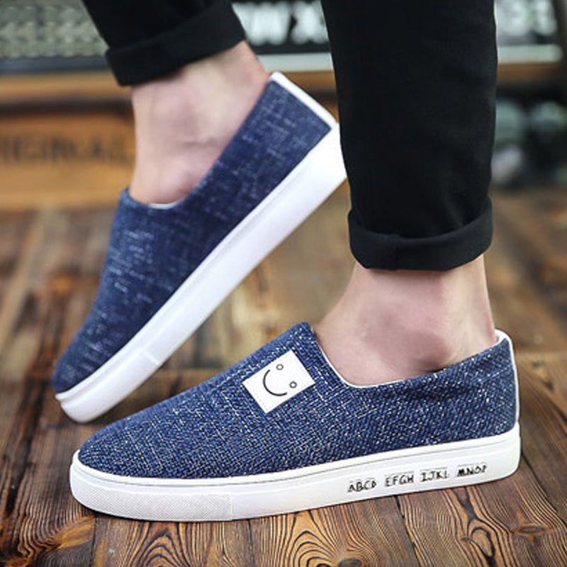 Causal Canvas Cloth Slip On Men's Sneakers