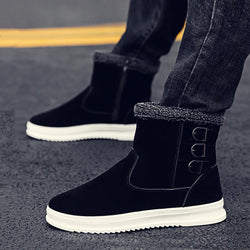 Suede Zipper Waterproof Men's Boots