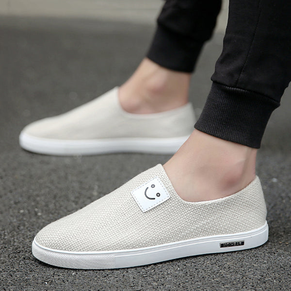 Causal Canvas Cloth Slip On Men's Loafers
