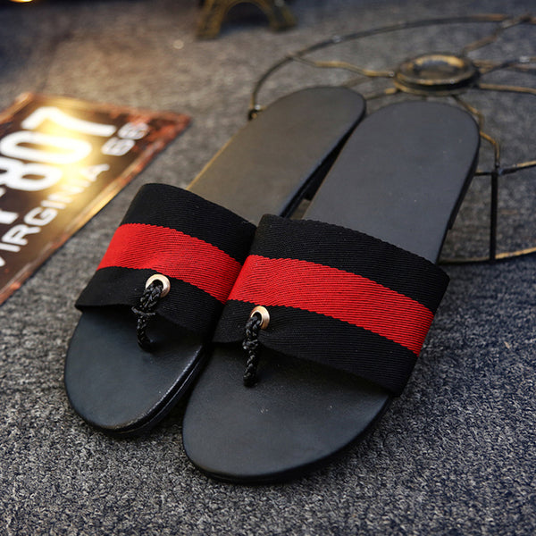 Denim Slip On Men's Slippers