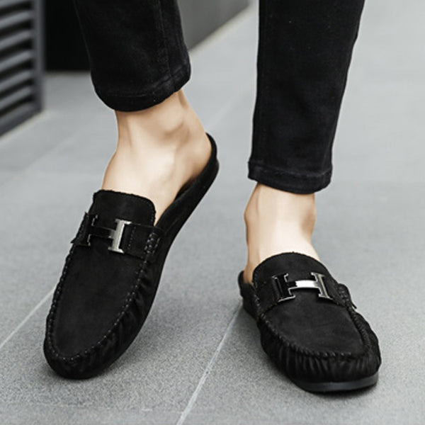 Suede Slip On Men's Slippers