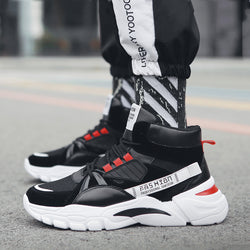 Mesh Lace Up Platform Men's Sneakers