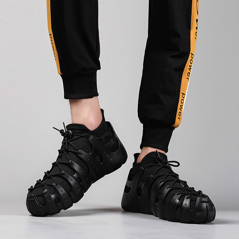 Knitted Fabric Elastic Band Breathable Men's Sneakers