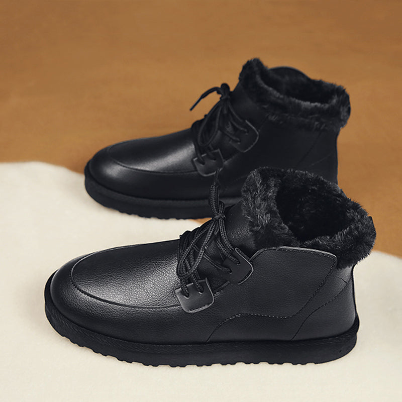 Suede Lace Up Coldproof Men's Boots