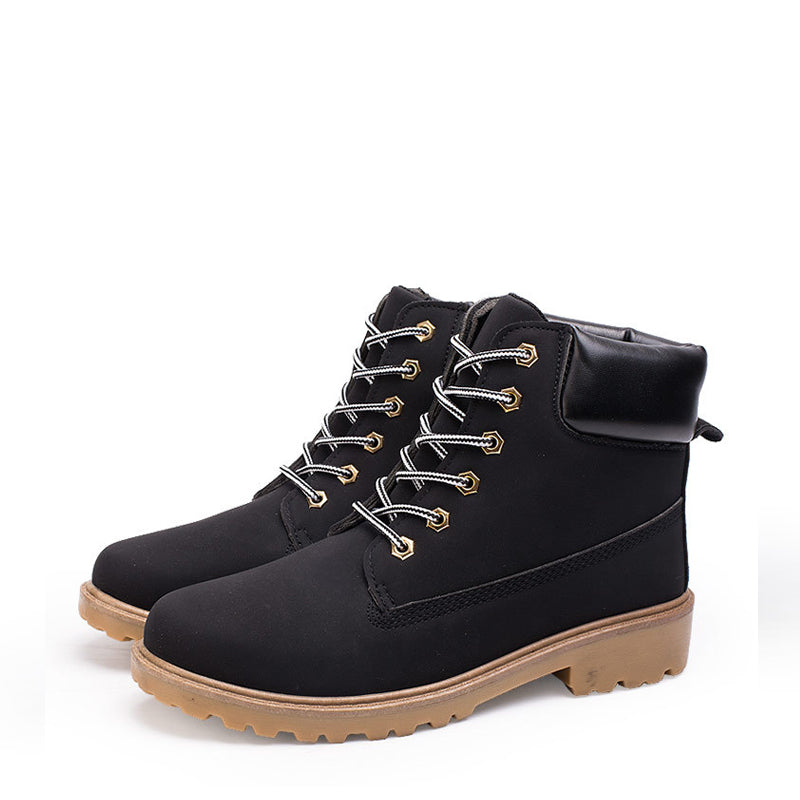 Leather Lace Up Cold Protection Men's Boots