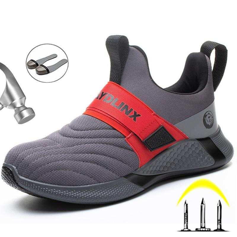 2020 Men Steel Toe Safety Work Shoes