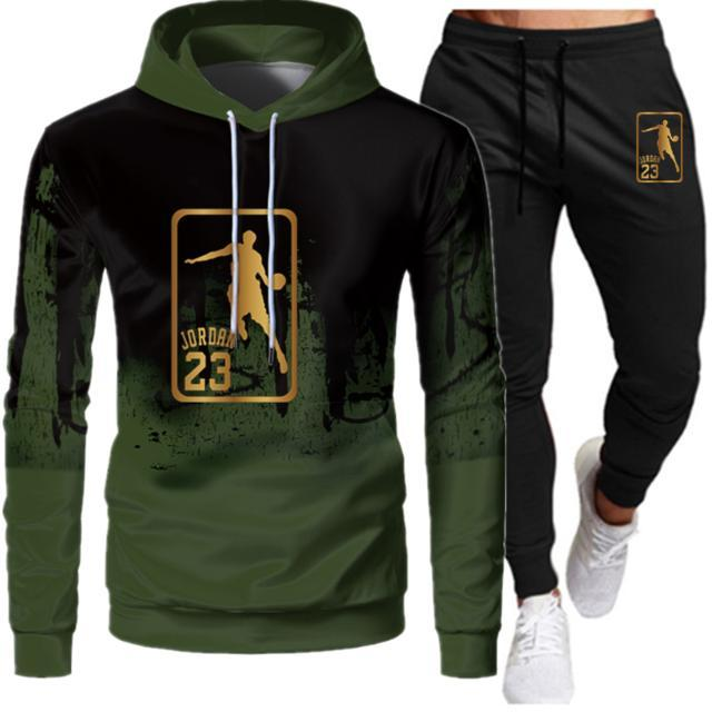 2020 Fashion Brand Casual Tracksuit Mens Patchwork Hoodie Pants