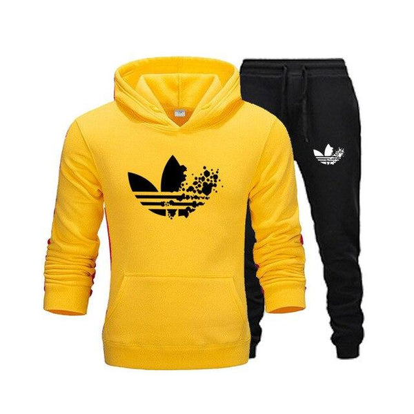 Men's Clothing Sweatshirts Hoodies+Pants 2pcs Sporting Sets