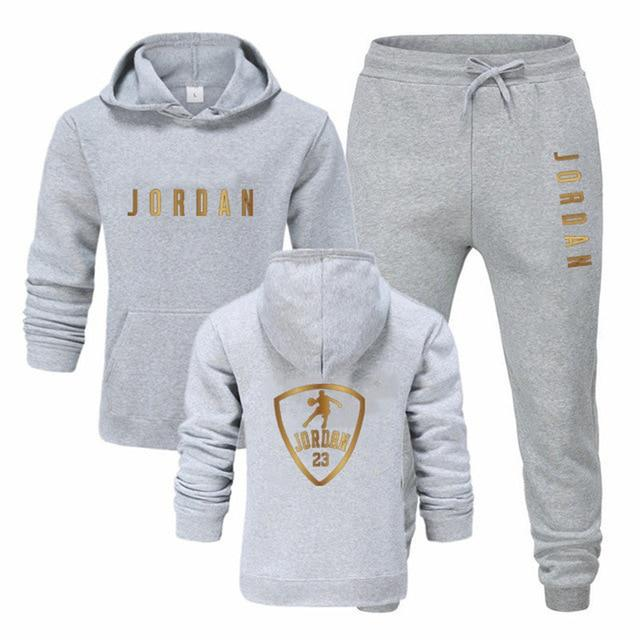 Fashion Sports Tracksuit Hooded Sweatshirt+pants S-3XL For Men