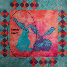Load image into Gallery viewer, Romeo Bunny raw edge applique quilt pattern